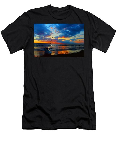The Hawaiian Sailboat Men's T-Shirt (Slim Fit) by Michael Rucker