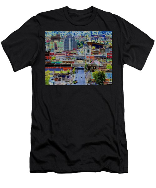 The Heart Of Downtown Spokane  Men's T-Shirt (Athletic Fit)