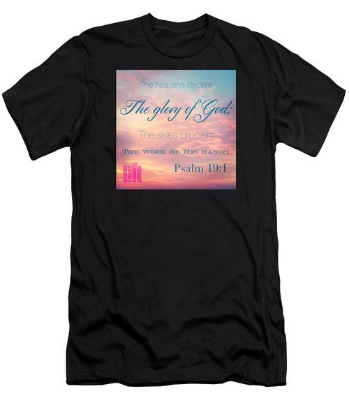 The Heavens Declare The Glory Of God Men's T-Shirt (Athletic Fit)