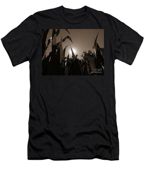 The Hiding Sun - Sepia Men's T-Shirt (Athletic Fit)