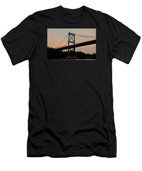 The High Level Aka Anthony Wayne Bridge I Men's T-Shirt (Slim Fit) by Michiale Schneider