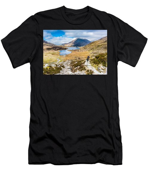 Men's T-Shirt (Athletic Fit) featuring the photograph The Hike Back Down by Nick Bywater