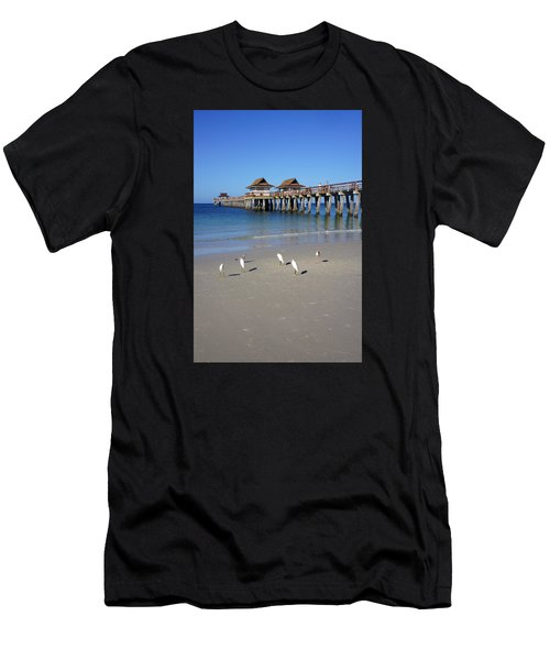 The Historic Naples Pier Men's T-Shirt (Athletic Fit)