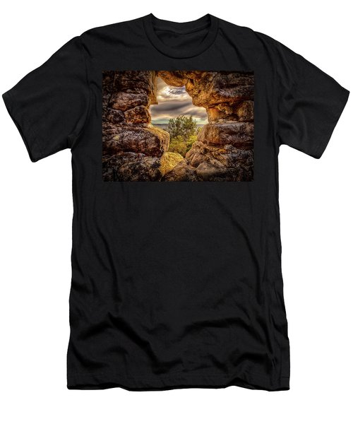 Men's T-Shirt (Athletic Fit) featuring the photograph The Hole In The Wall by Chris Cousins