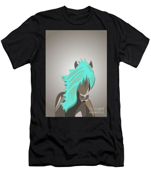 The Horse With The Turquoise Mane Men's T-Shirt (Athletic Fit)