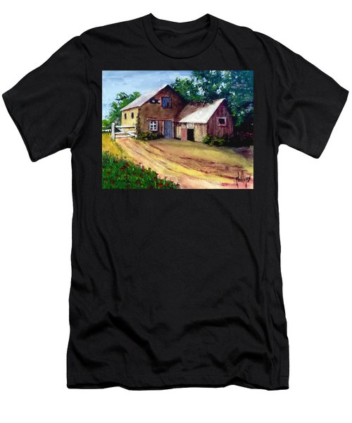The House Barn Men's T-Shirt (Slim Fit) by Jim Phillips