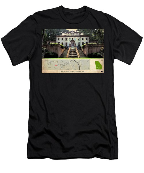 The Hunger Games Catching Fire Movie Location And Map Men's T-Shirt (Slim Fit) by Pablo Franchi
