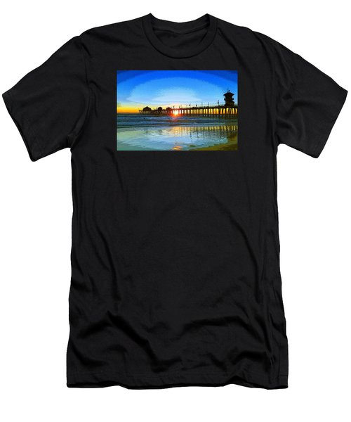 The Huntington Beach Pier Men's T-Shirt (Athletic Fit)