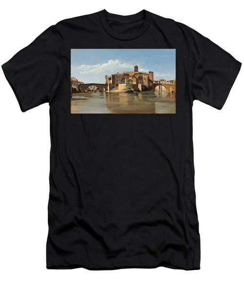 The Island And Bridge Of San Bartolomeo Men's T-Shirt (Athletic Fit)