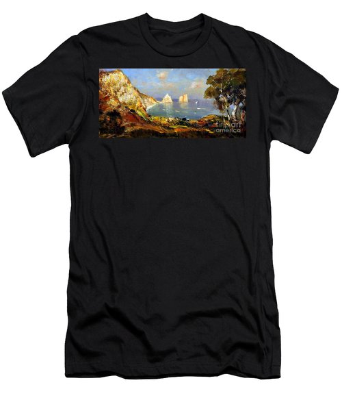 The Island Of Capri And The Faraglioni Men's T-Shirt (Athletic Fit)