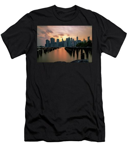 The Island Of Manhattan  Men's T-Shirt (Athletic Fit)