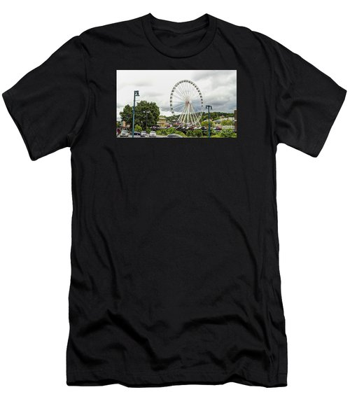 The Island Smoky Mountain Wheel Men's T-Shirt (Athletic Fit)