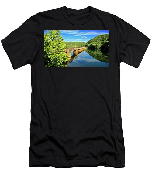 The James River Trestle Bridge, Va Men's T-Shirt (Athletic Fit)