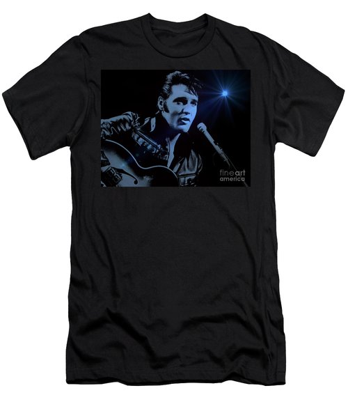 The King Rocks On Men's T-Shirt (Athletic Fit)
