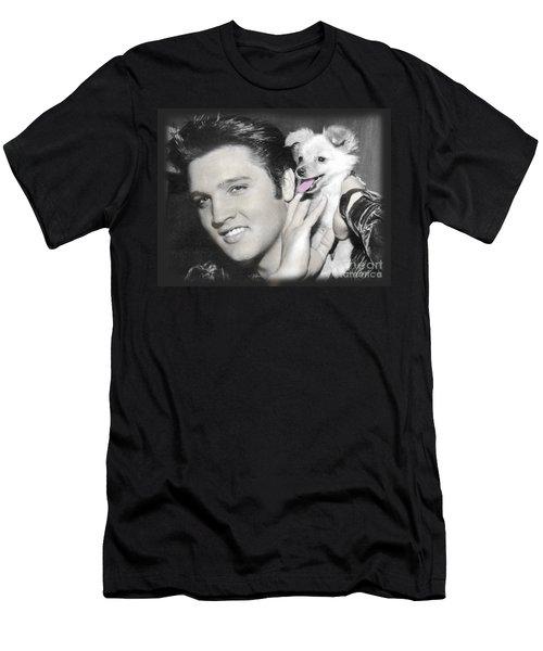 The King Rocks On Xxv Men's T-Shirt (Athletic Fit)