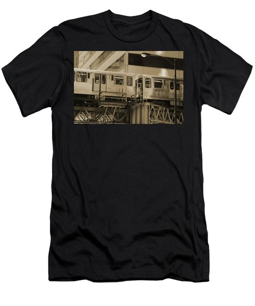 The L Downtown Chicago In Sepia Men's T-Shirt (Athletic Fit)