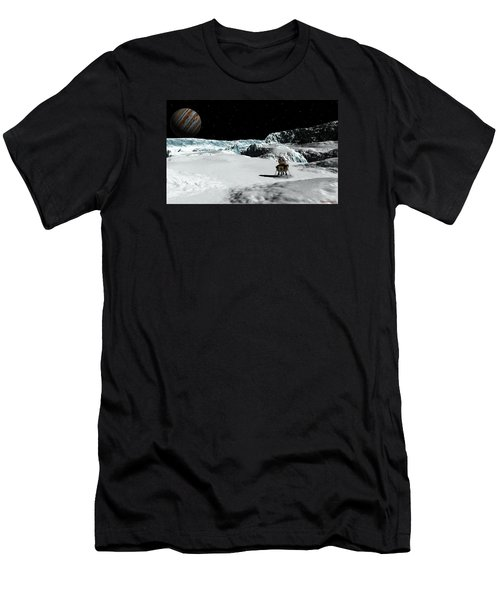 Men's T-Shirt (Slim Fit) featuring the digital art The Lander Ulysses On Europa by David Robinson