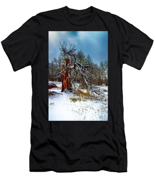 Men's T-Shirt (Athletic Fit) featuring the photograph The Last Stand by Shane Bechler