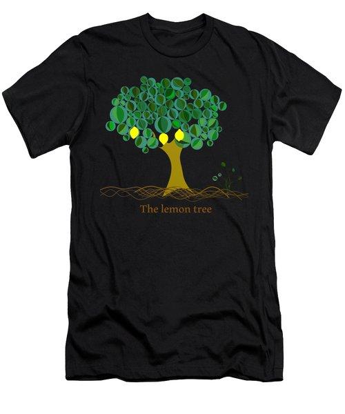 The Lemon Tree Men's T-Shirt (Slim Fit) by Alberto RuiZ