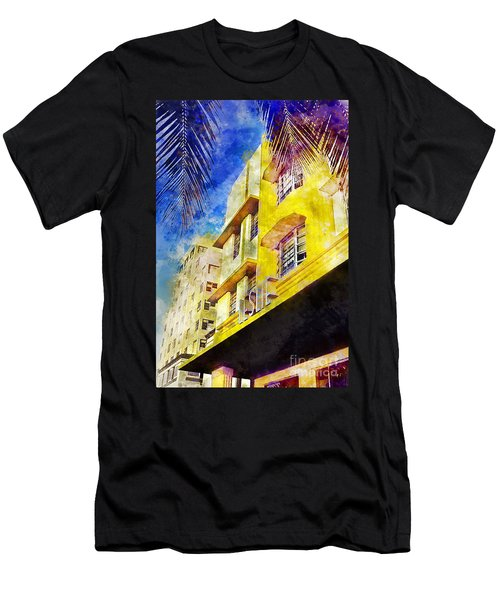 The Leslie Hotel South Beach Men's T-Shirt (Athletic Fit)