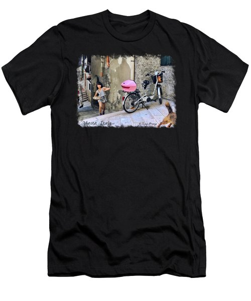 The Life.vieste.italy Men's T-Shirt (Athletic Fit)