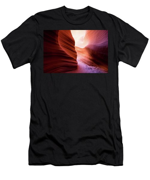 Men's T-Shirt (Athletic Fit) featuring the photograph The Light At The End by Stephen Holst