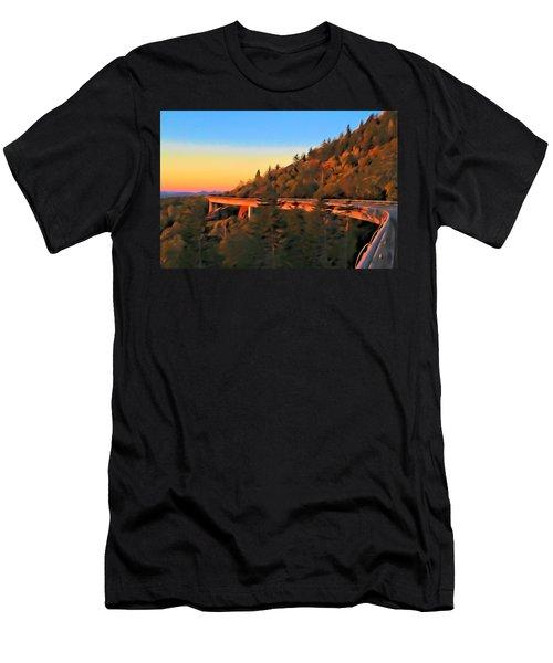 The Linn Cove Viaduct At Sunrise Men's T-Shirt (Athletic Fit)
