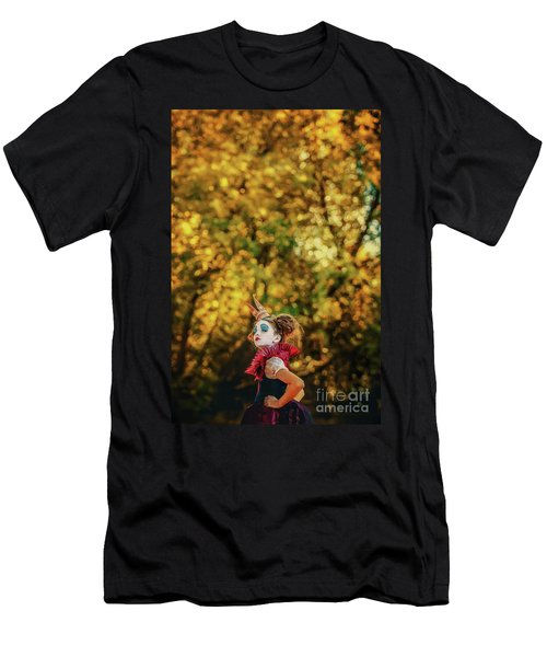 Men's T-Shirt (Athletic Fit) featuring the photograph The Little Queen Of Hearts Alice In Wonderland by Dimitar Hristov