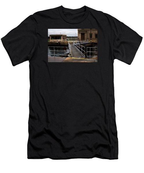 The Locks At Sault Ste Marie Michigan Men's T-Shirt (Slim Fit)