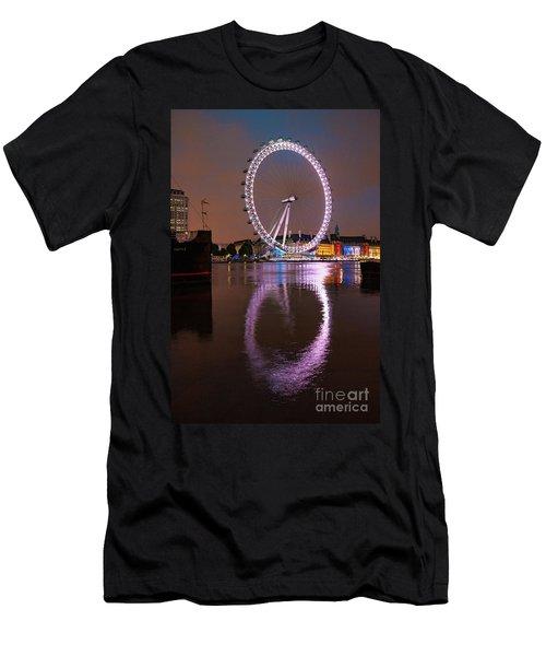 The London Eye Men's T-Shirt (Slim Fit) by Nichola Denny
