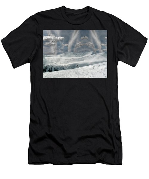 Men's T-Shirt (Athletic Fit) featuring the photograph The Lone Boarder by Wayne King