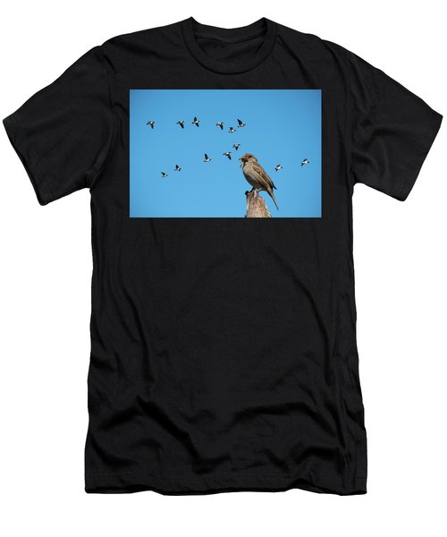 The Lonely Sparrow Men's T-Shirt (Athletic Fit)