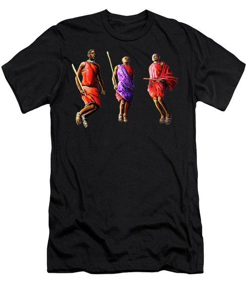 The Maasai Jump Men's T-Shirt (Athletic Fit)