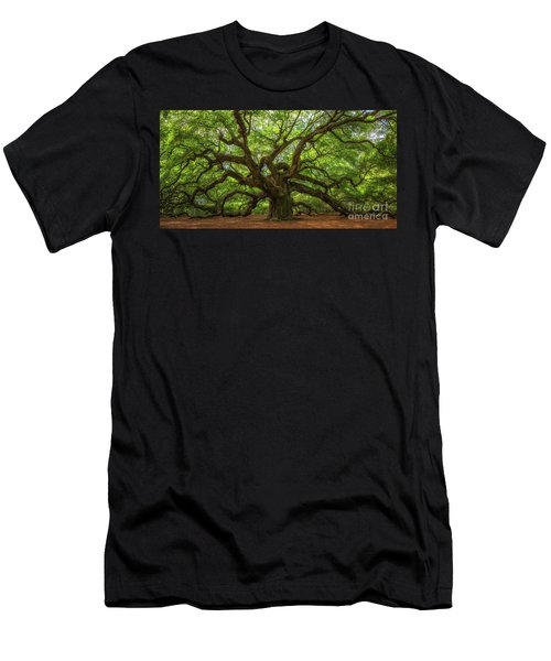 The Magical Angel Oak Tree Panorama  Men's T-Shirt (Athletic Fit)