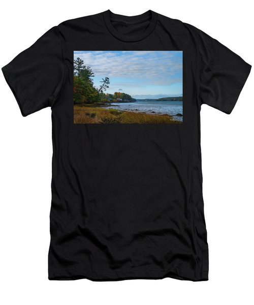 The Maine Coast Near Edgecomb  Men's T-Shirt (Athletic Fit)
