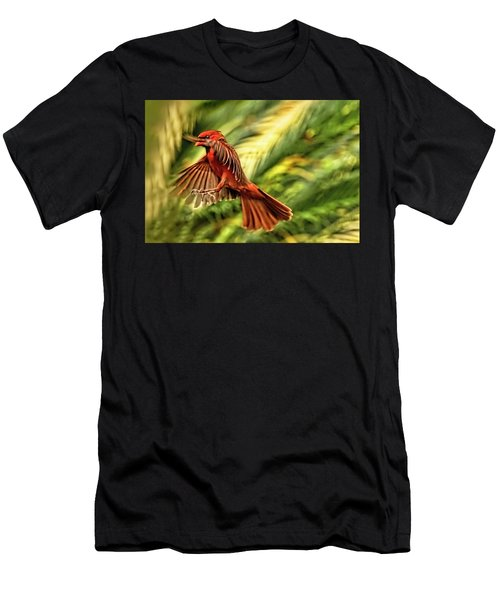 The Male Cardinal Approaches Men's T-Shirt (Athletic Fit)