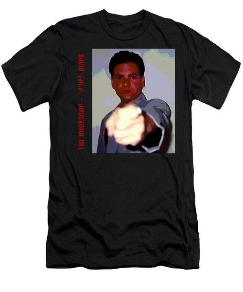 The Marksman - Point Blank Men's T-Shirt (Slim Fit) by Mark Baranowski