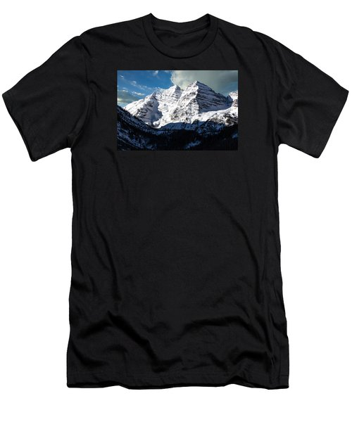 These Twin Peaks Outside Aspen Are Called The Maroon Bells  Men's T-Shirt (Athletic Fit)