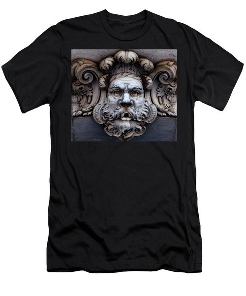 Men's T-Shirt (Athletic Fit) featuring the photograph The Mask by Lorraine Devon Wilke