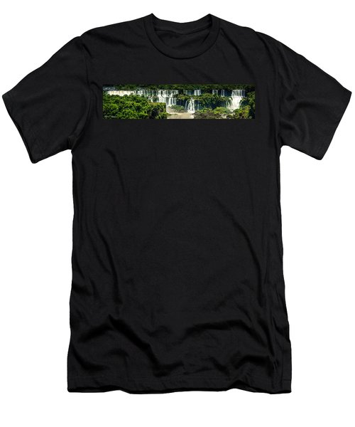 Men's T-Shirt (Slim Fit) featuring the photograph The Mighty Iguazu  by Andrew Matwijec