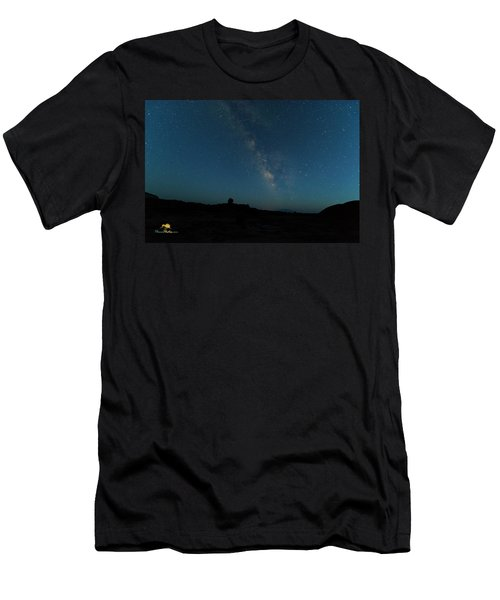 The Milky Way At Goblin Valley Men's T-Shirt (Athletic Fit)