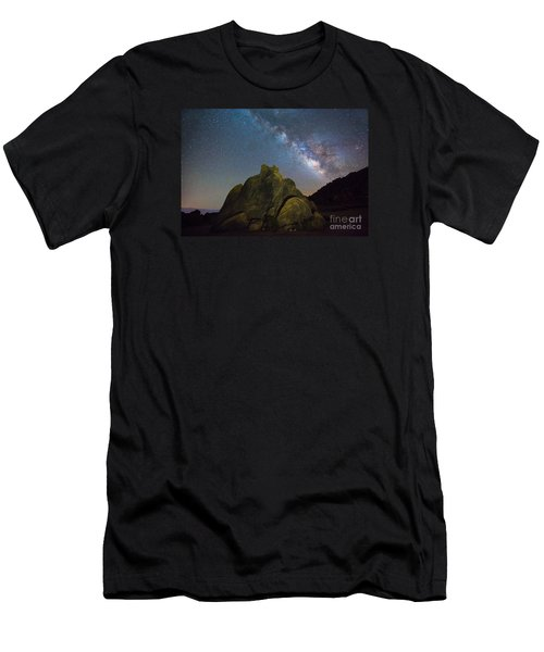 The Milky Way Roars Over The Eastern Sierra Men's T-Shirt (Athletic Fit)