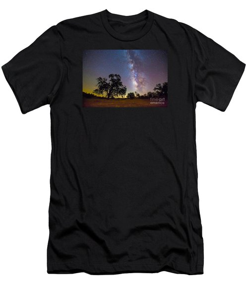 The Milky Way With One Perseid Meteor Men's T-Shirt (Athletic Fit)