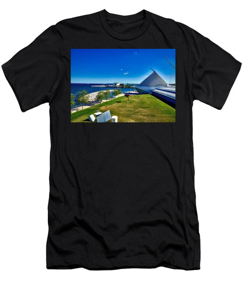 The Milwaukee Art Museum On Lake Michigan Men's T-Shirt (Athletic Fit)