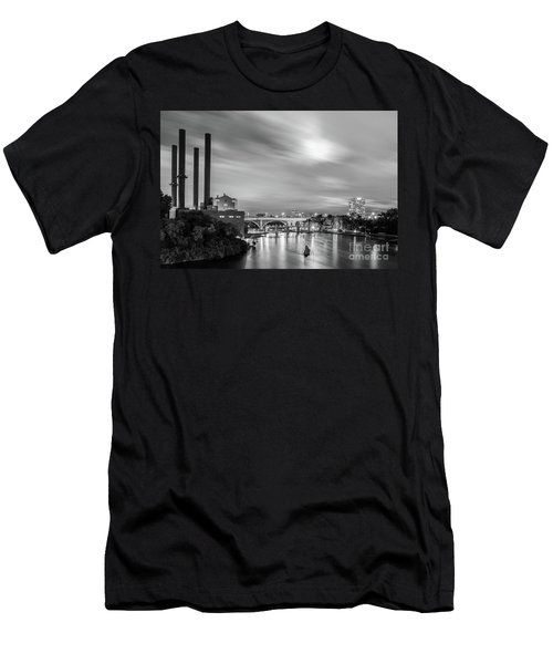 The Mississippi River Night Scene Men's T-Shirt (Athletic Fit)