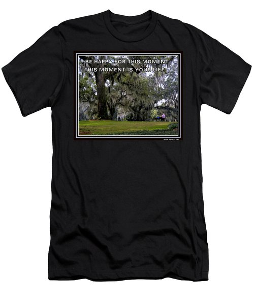 Men's T-Shirt (Slim Fit) featuring the photograph The Moment by Irma BACKELANT GALLERIES