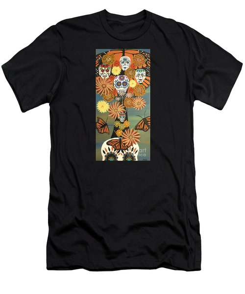 The Monarch's Tree Of Life And The Dead - Day Of The Dead Men's T-Shirt (Athletic Fit)