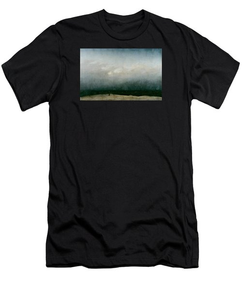 Monk By The Sea  Men's T-Shirt (Athletic Fit)