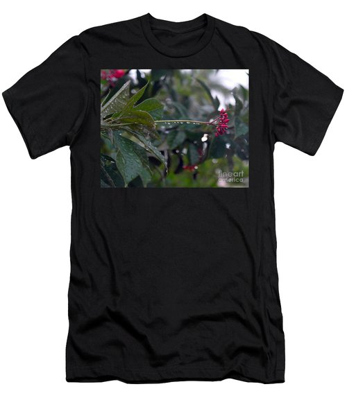 Men's T-Shirt (Slim Fit) featuring the photograph The Morning Kiss by Irma BACKELANT GALLERIES