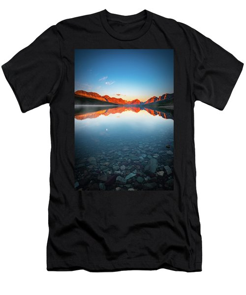The Morning Tranquility With Full Moon Men's T-Shirt (Athletic Fit)